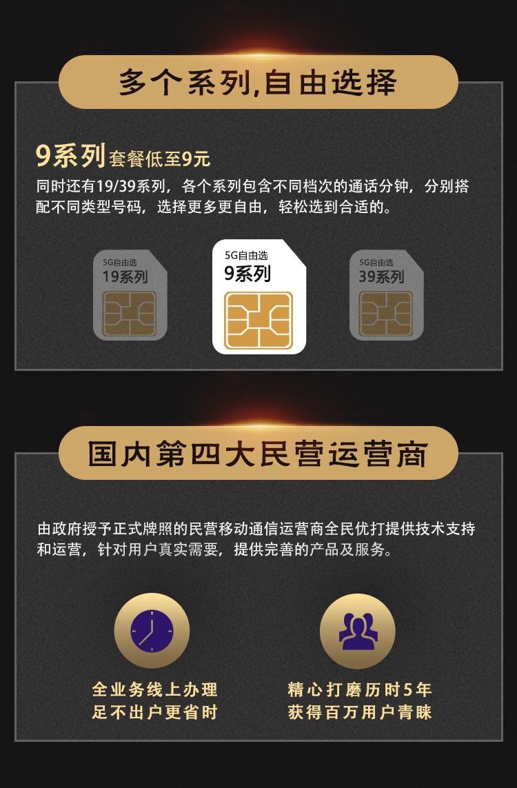 5G自由选号卡